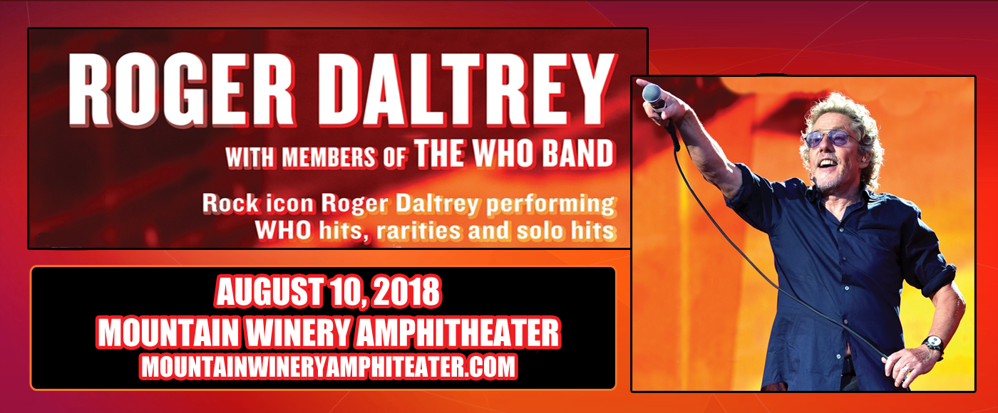 Roger Daltrey at Mountain Winery Amphitheater
