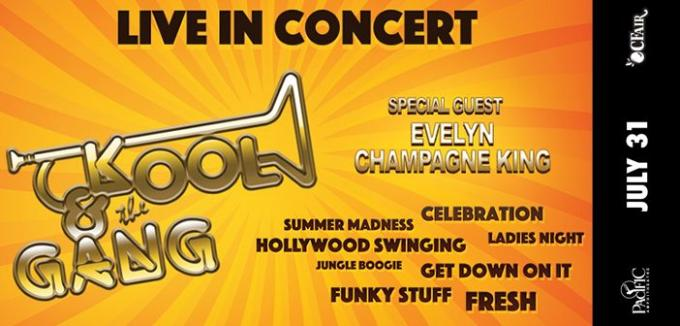 Kool and The Gang & Evelyn Champagne King at Mountain Winery Amphitheater