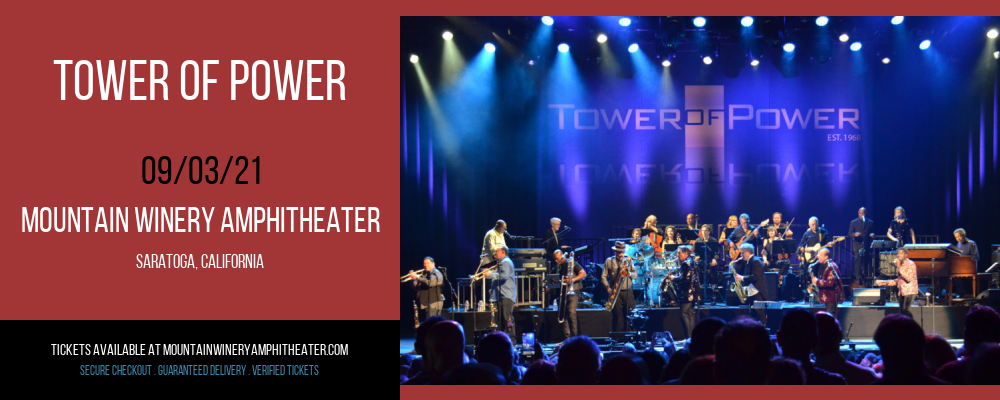 Tower of Power at Mountain Winery Amphitheater