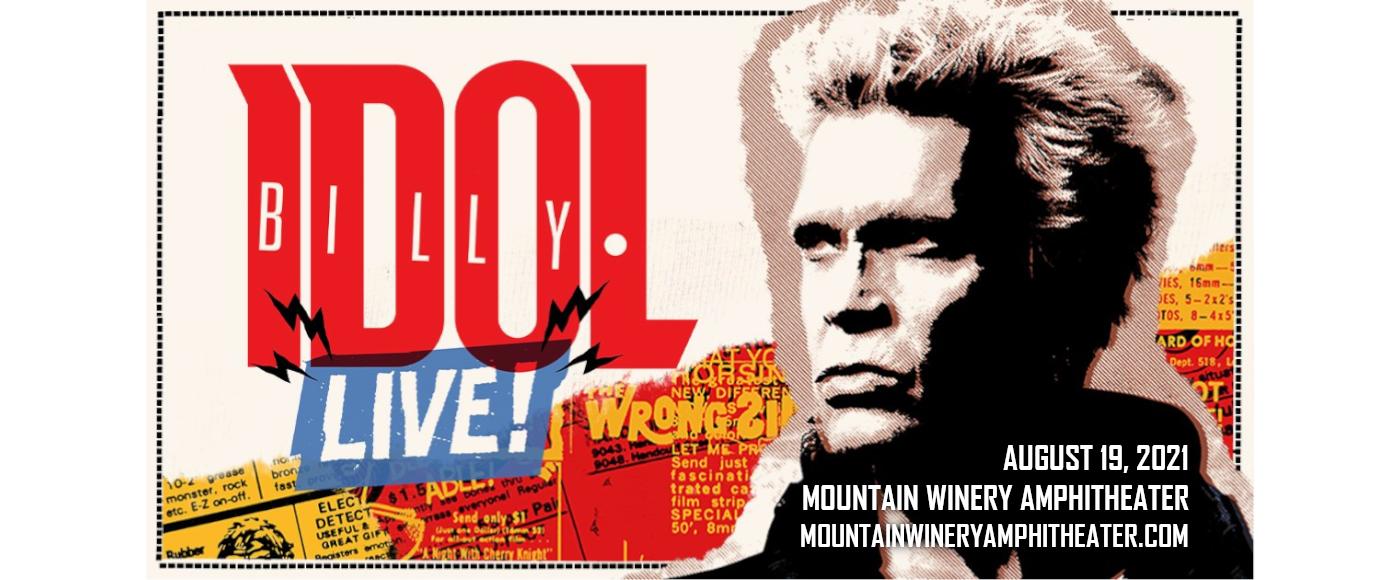 Billy Idol at Mountain Winery Amphitheater