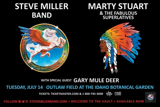 Steve Miller Band, Marty Stuart and The Fabulous Superlatives & Gary Mule Deer at Mountain Winery Amphitheater